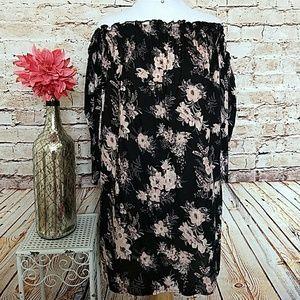 NWT Black Floral Off Shoulder Dress size M